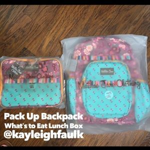 Matilda Jane Pack Up Backpack & Lunch Box